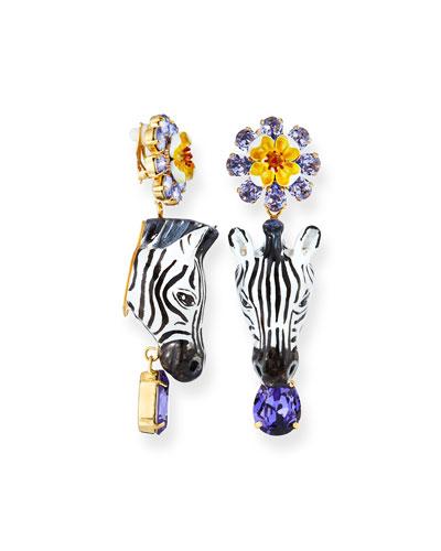 Zebra Crystal Earrings