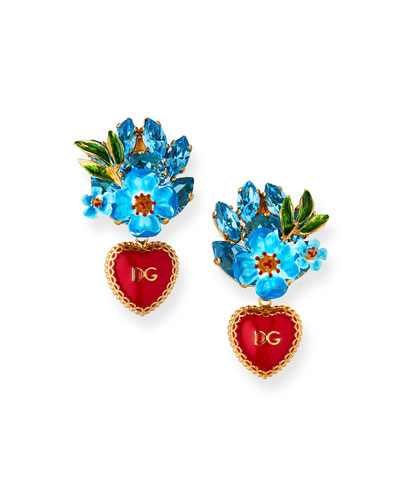 Sacred Heart DG Drop Earrings