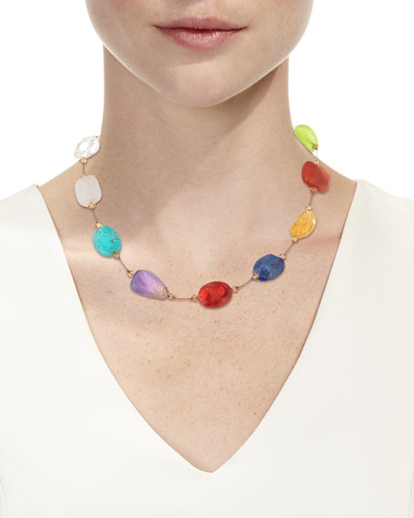 Image 2 of 2: Margo Morrison Crystal & Multi-Stone Necklace