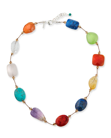 Image 1 of 2: Margo Morrison Crystal & Multi-Stone Necklace