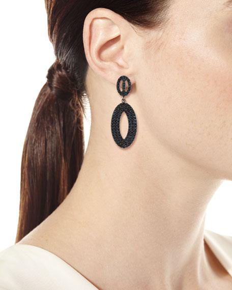 Margo Morrison Black Spinel Loop Earrings