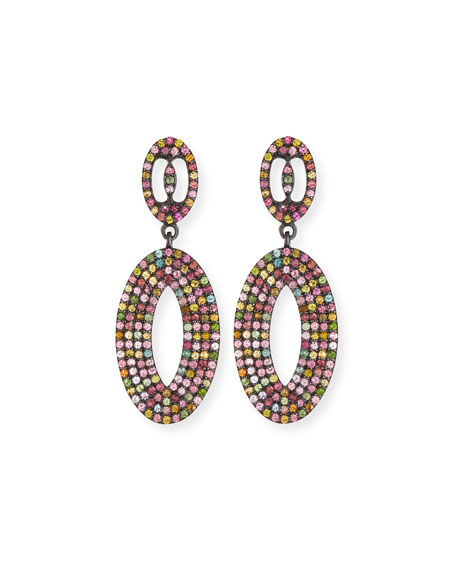 Margo Morrison Multicolor Tourmaline Loop Earrings