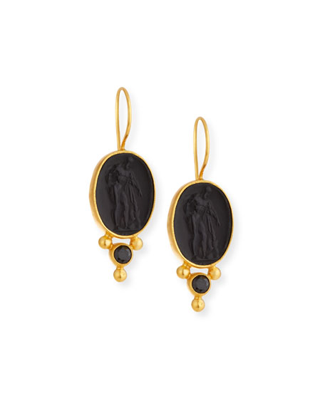 Dina Mackney Italian Glass & Spinel Drop Earrings