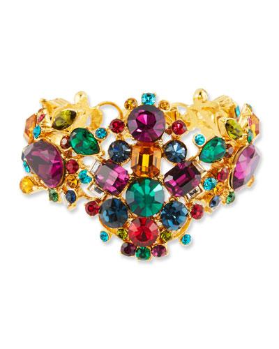 Large Multicolor Crystal Bracelet