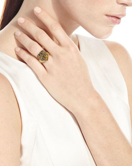 Lulu Frost Nina Crystal Heart Ring, Size 7
