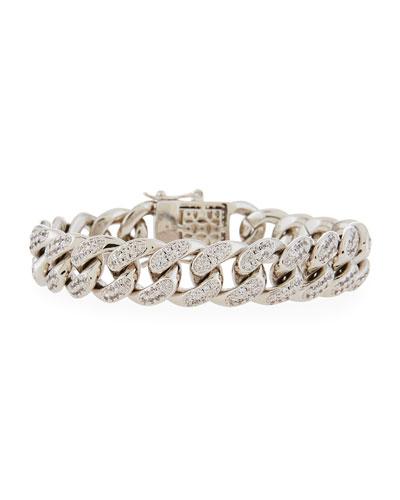 Armure Pave Curb Chain Bracelet
