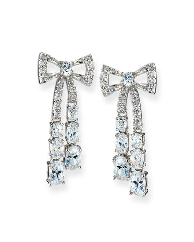 Rigid Crystal Bow Earrings