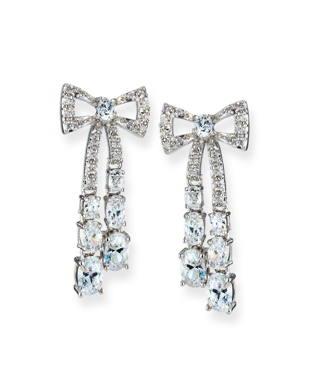 Rigid Crystal Bow Earrings