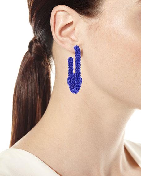 Sachin & Babi Seed Bead Mini Pinball Earrings, Blue