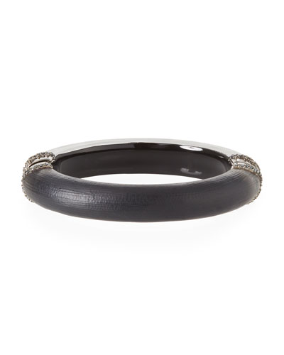 Pave Edged Hinge Bracelet