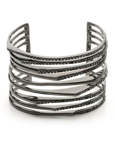 Lace Orbiting Cuff Bracelet