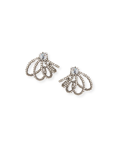 Crystal Lace Orbit Stud Earrings