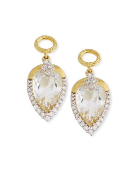 Jude Frances 18k Gold Provence Delicate Topaz Pear