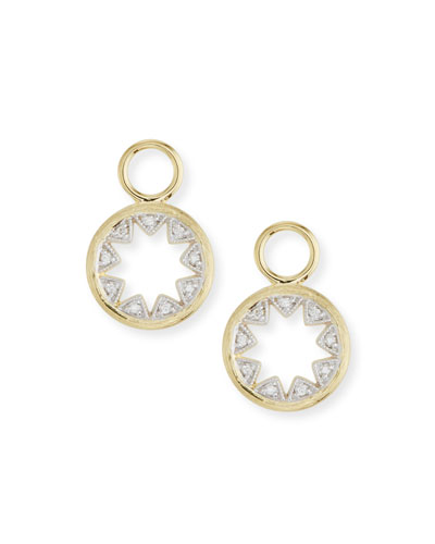 18k Lisse Tiny Half Kite Diamond Earring Charms