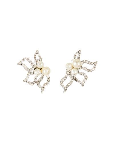 Pave Petal Earrings