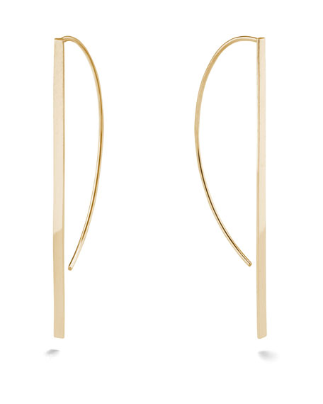 Lana 14K GOLD FLAT P-HOOP EARRINGS