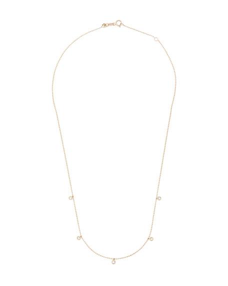 Kismet by Milka 14k Rose Gold 5-Diamond Necklace