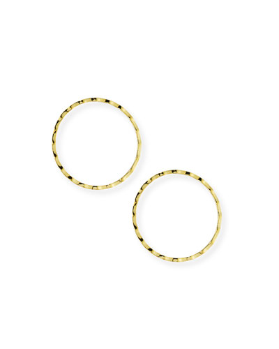 Rippled Cheekbone Hoop Earrings