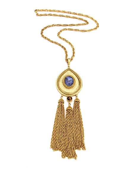 Ben-Amun Triple Tassel Pendant Necklace