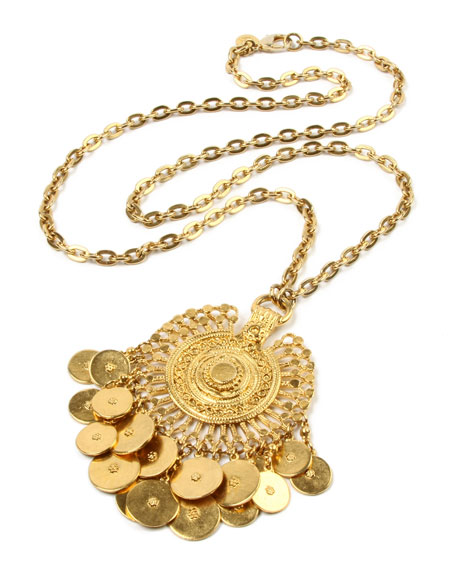 Ben-Amun Coin-Dangle Pendant Necklace