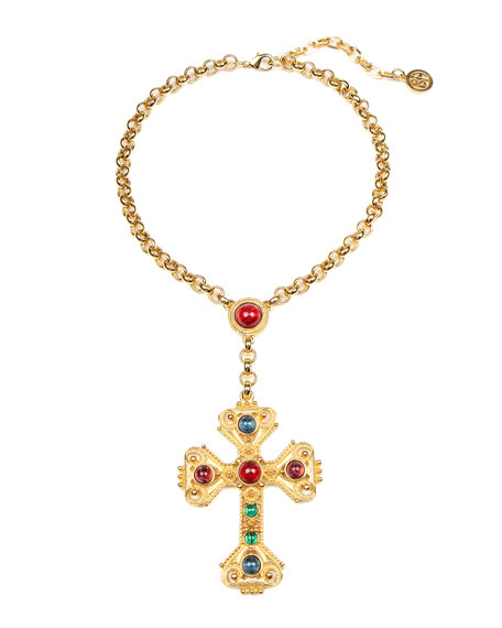 Ben-Amun Large Cross Pendant Necklace