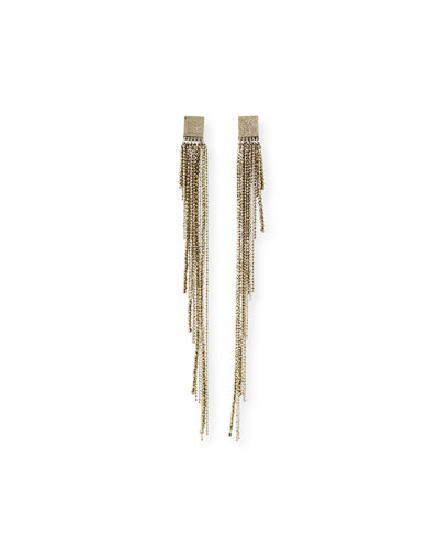 Monili-Beaded Shoulder-Duster Earrings