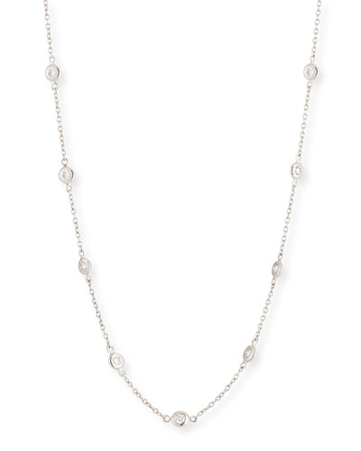18k White Gold Diamond By-the-Yard Necklace