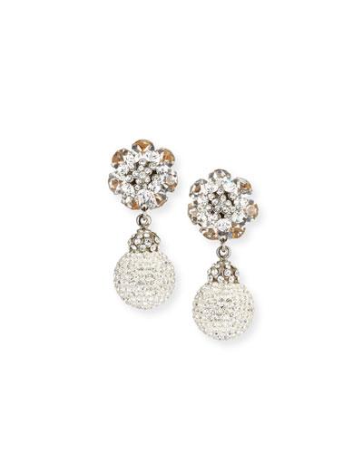 Crystal Ball Clip-On Earrings