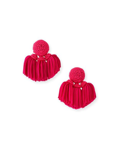 Sachin & Babi MINI CHA CHA CLIP-ON TASSEL EARRINGS