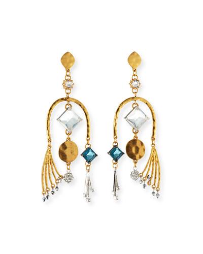 Modern Asymmetric Drop Earrings