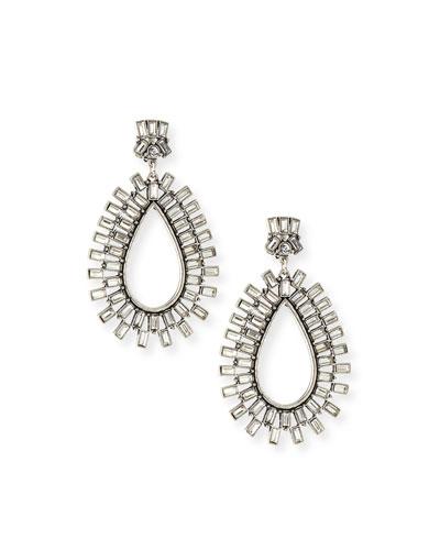 Baguette Burst Crystal Drop Earrings