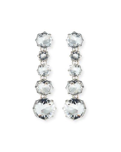 Clear Crystal Drop Earrings