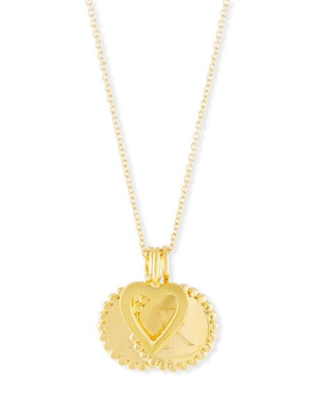 SARAH CHLOE Madi Layered Initial Pendant Necklace in Gold
