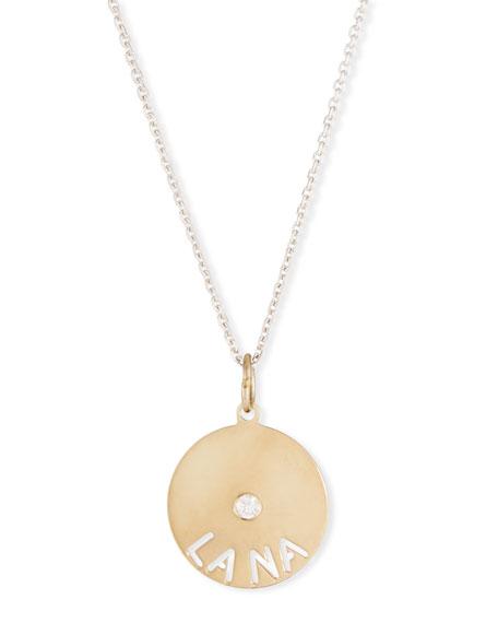 SARAH CHLOE 14K Mimi Diamond & Name Pendant Necklace in Gold
