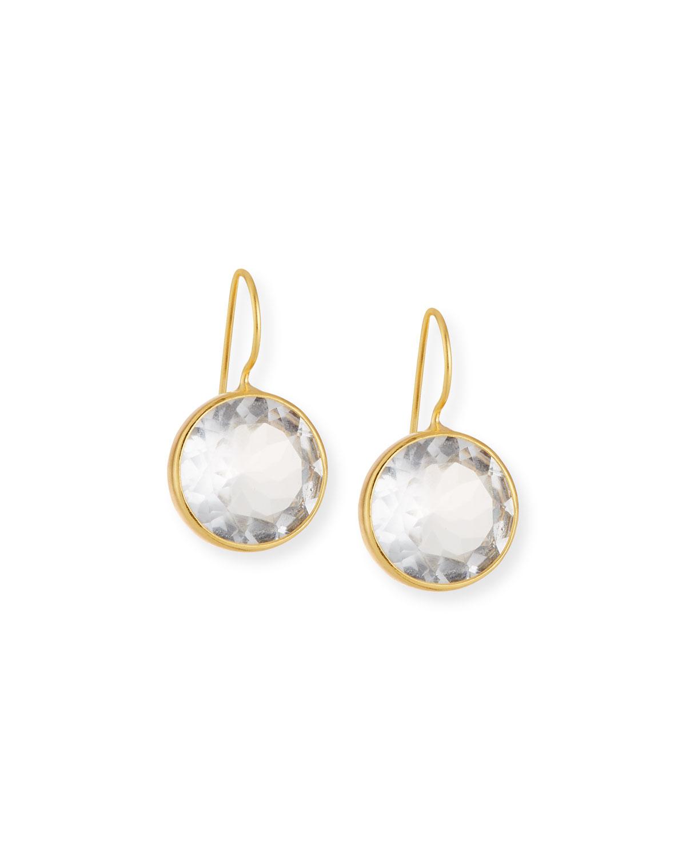 Large Clear Quartz Drop Earrings
