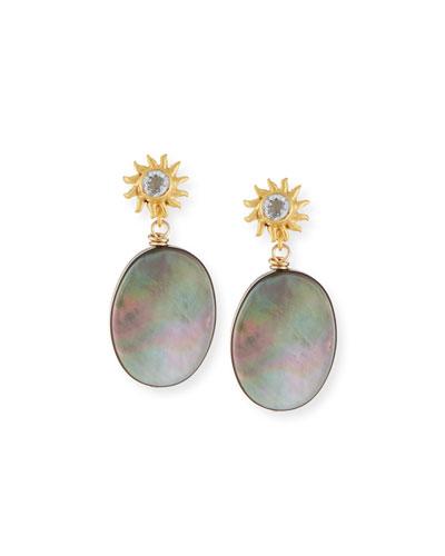 Black Mother-of-Pearl Drop Earrings