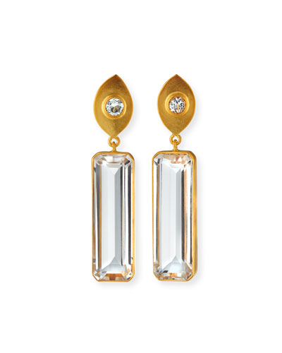 Topaz & Quartz Drop Earrings