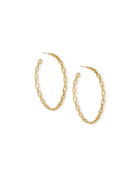 Jennifer Zeuner Carmine Link Hoop Earrings