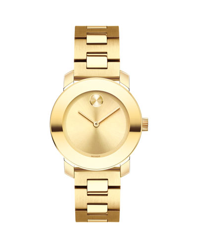 30mm BOLD Bracelet Watch  Golden