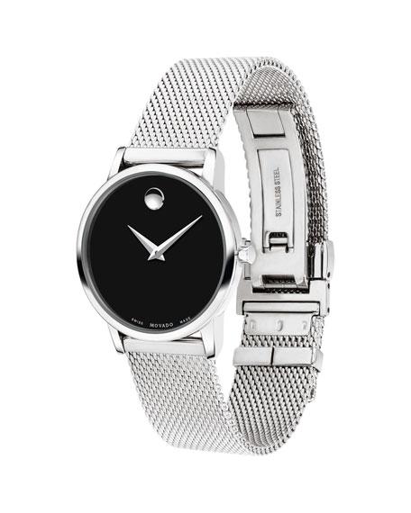 Movado 28mm Museum Classic Mesh Bracelet Watch
