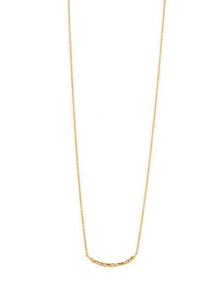 gorjana Collette Curved Bar Necklace
