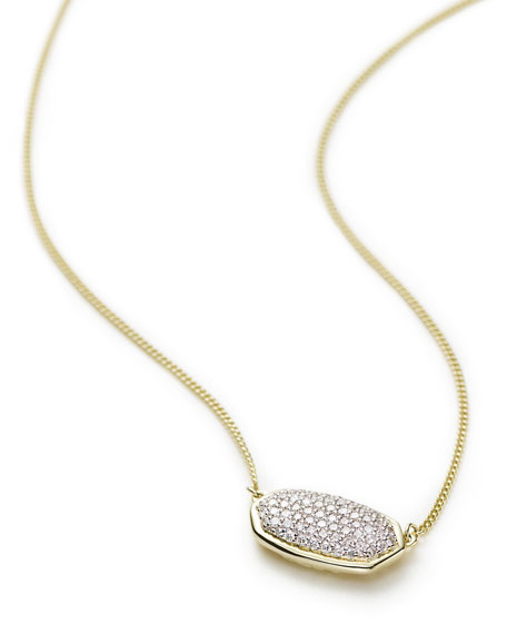 Image 2 of 2: Kendra Scott Elisa 14k Gold Diamond Pendant Necklace