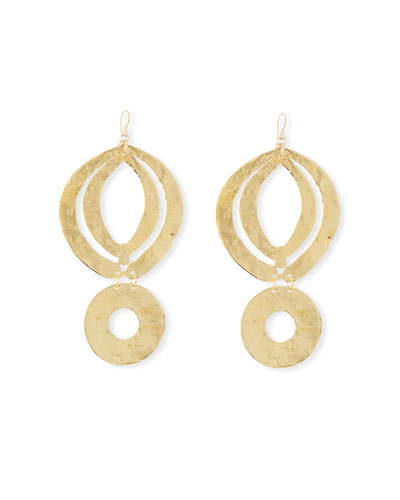 Circle Double-Drop Earrings