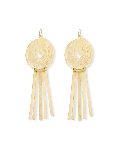 Swirl Spike Drop Earrings