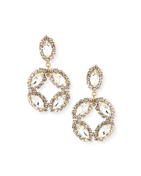 Rosantica Neve Marquise & Round Crystal Earrings