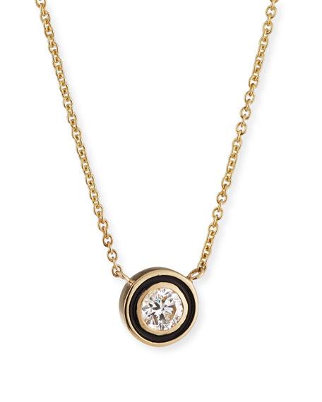 Sydney Evan 14k Gold Diamond & Enamel Pendant Necklace