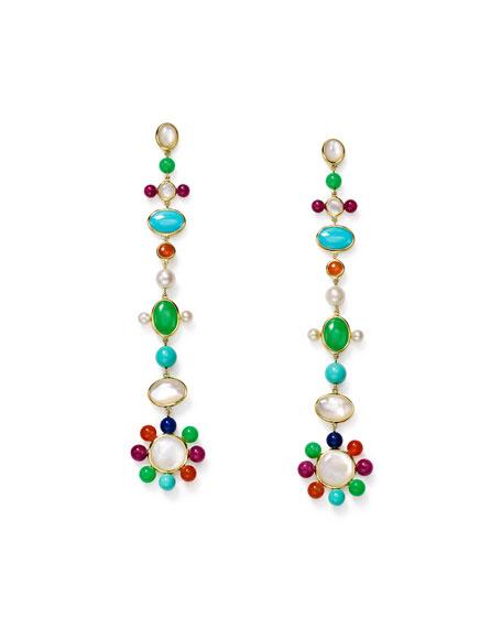 Ippolita Nova 18k Pearl & Mixed-Stone Drop Earrings