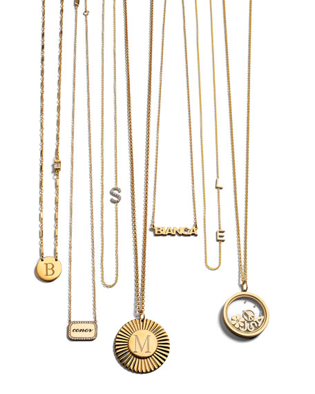 Jennifer Zeuner Mercer Personalized Nameplate Pendant Necklace