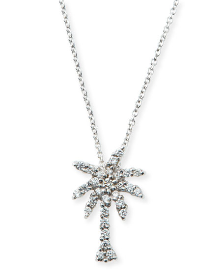 Roberto Coin 18k White Gold Diamond Palm Tree