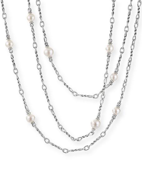 """David Yurman Continuance Pearl Small Chain Necklace, 17""""L"""